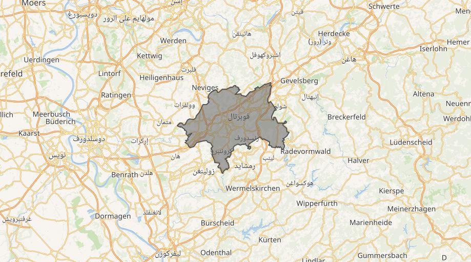 مدينة فوبرتال الألمانية من الأماكن التي تستحق الزيارة.موقع مدينة فوبرتال على خريطة ألمانيا.