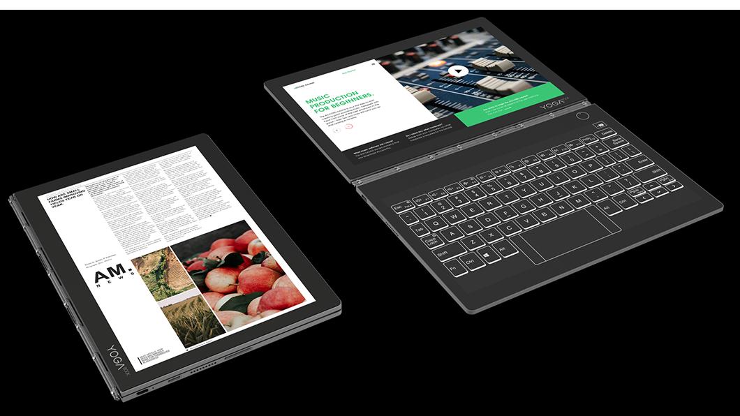 Yoga Book C930 حاسوب شركة لينوفو الذي اطلق في مؤتمر IFA 2018 في برلين