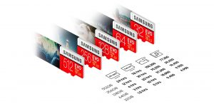 MicroSD بطاقة الذاكرة تطلقها سامسونج بسعة 512GB