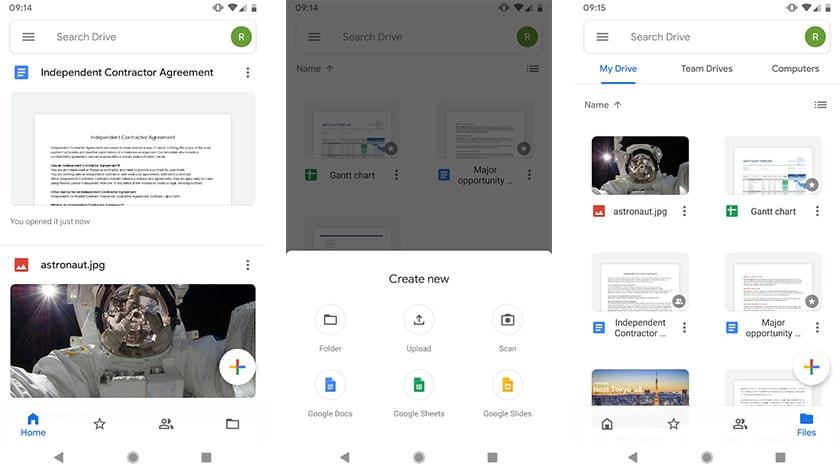تطبيق جوجل درايف وتطبيق مايكروسوفت أوفيس